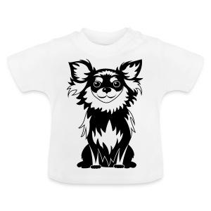 Chihuahua Glitter (zwart) - Baby T-shirt