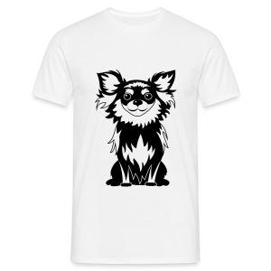 Chihuahua Glitter (zwart) - Mannen T-shirt