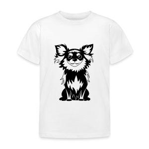 Chihuahua Glitter (zwart) - Kinderen T-shirt