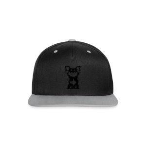 Chihuahua Glitter (zwart) - Contrast snapback cap