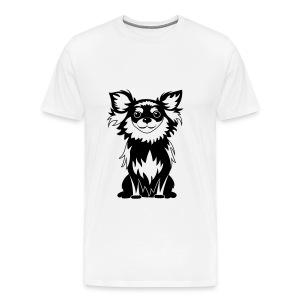 Chihuahua Glitter (zwart) - Mannen Premium T-shirt
