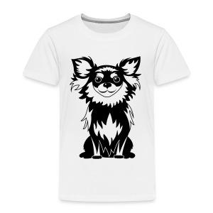 Chihuahua Glitter (zwart) - Kinderen Premium T-shirt