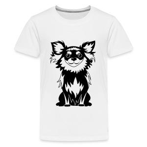 Chihuahua Glitter (zwart) - Teenager Premium T-shirt