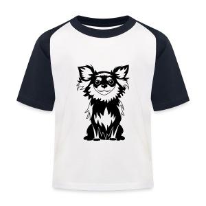 Chihuahua Glitter (zwart) - Kinderen baseball T-shirt