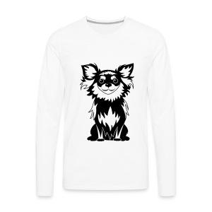 Chihuahua Glitter (zwart) - Mannen Premium shirt met lange mouwen
