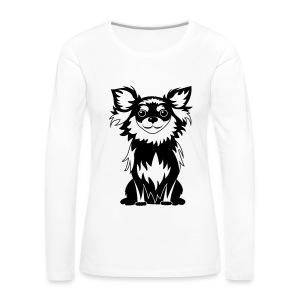 Chihuahua Glitter (zwart) - Vrouwen Premium shirt met lange mouwen