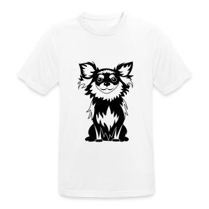 Chihuahua Glitter (zwart) - mannen T-shirt ademend