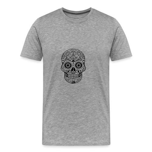 Gothic Ornaments Sugar Skull - black - Männer Premium T-Shirt