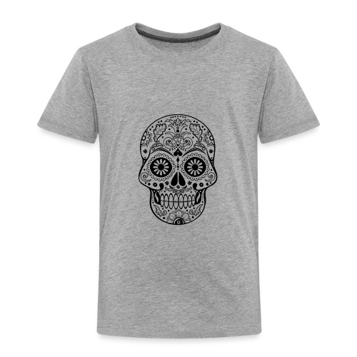 Gothic Ornaments Sugar Skull - black - Kinder Premium T-Shirt