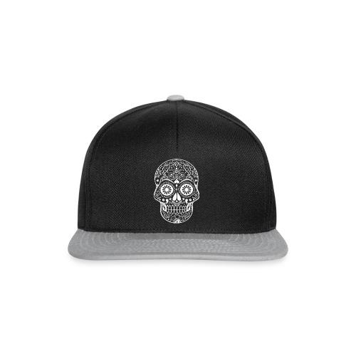 Gothic Ornaments Sugar Skull - weiss - Snapback Cap