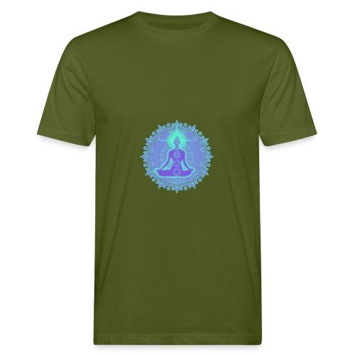 Yoga Lotus Meditation Chakren II - Männer Bio-T-Shirt