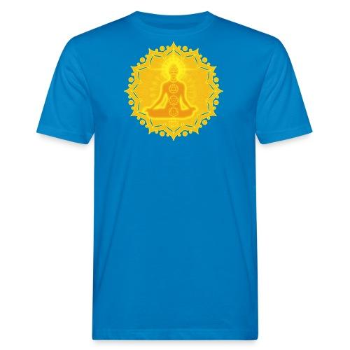Yoga Lotus Meditation Chakren III - Männer Bio-T-Shirt