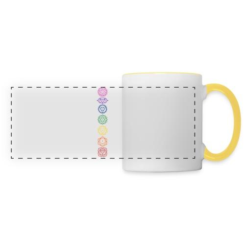 7 Chakra Symbole - Farben Zuordnung - Panoramatasse
