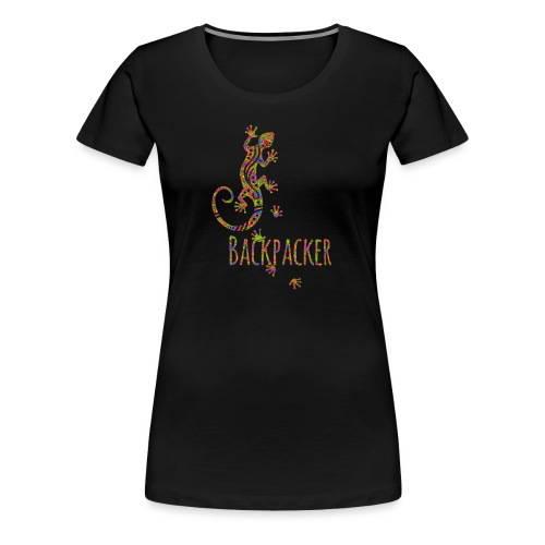Backpacker - Running Ethno Gecko 3 - Frauen Premium T-Shirt