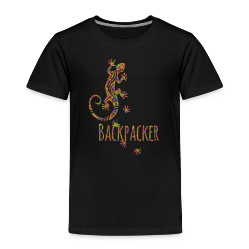 Backpacker - Running Ethno Gecko 3 - Kinder Premium T-Shirt