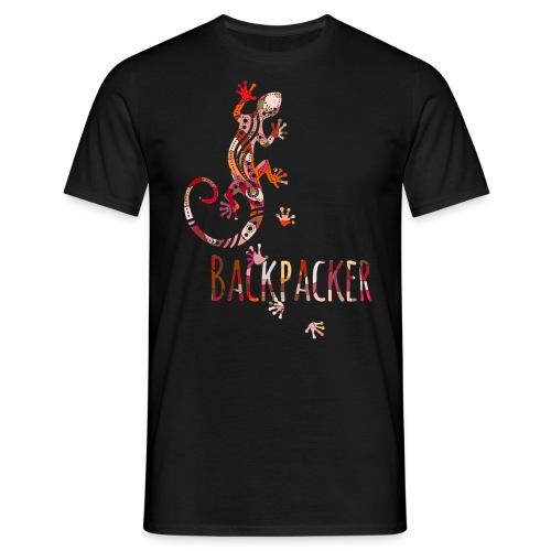 Backpacker - Running Ethno Gecko 4 - Männer T-Shirt