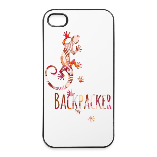 Backpacker - Running Ethno Gecko 4 - iPhone 4/4s Hard Case