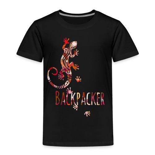 Backpacker - Running Ethno Gecko 4 - Kinder Premium T-Shirt