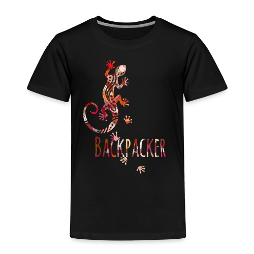 Backpacker - Running Ethno Gecko 4 - Kinder Premium T-Shirt