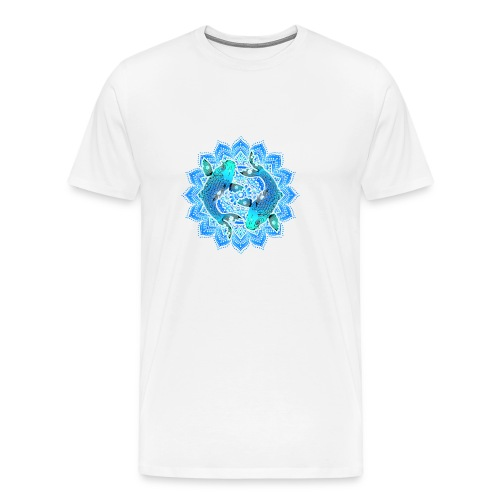 Asian Pond Carp - Koi Fish Mandala 1 - Männer Premium T-Shirt