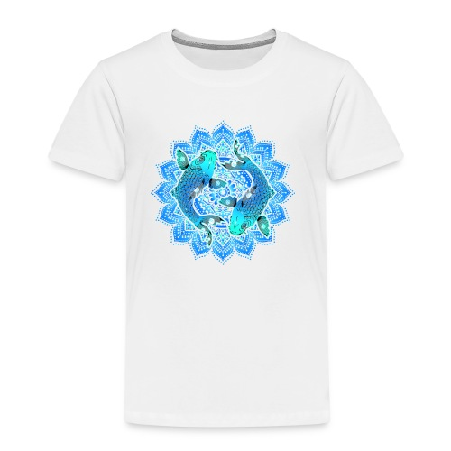 Asian Pond Carp - Koi Fish Mandala 1 - Kinder Premium T-Shirt