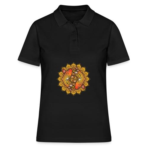Asian Pond Carp - Koi Fish Mandala 2 - Frauen Polo Shirt