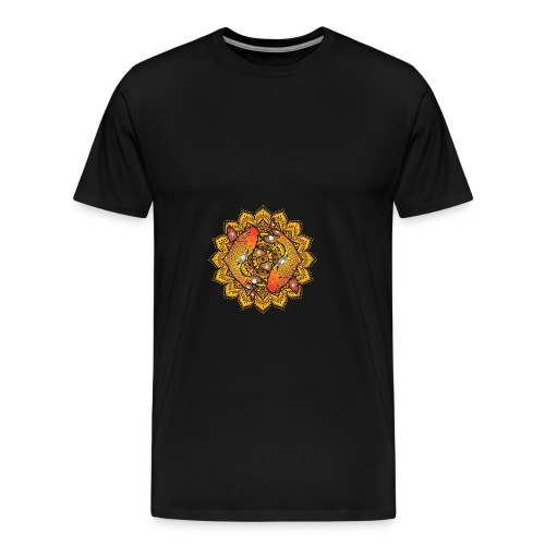 Asian Pond Carp - Koi Fish Mandala 2 - Männer Premium T-Shirt