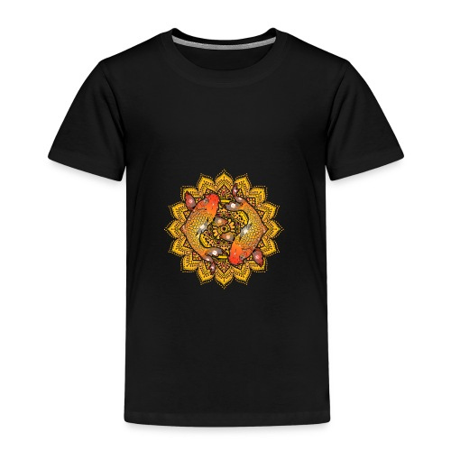 Asian Pond Carp - Koi Fish Mandala 2 - Kinder Premium T-Shirt