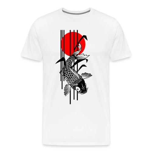 Bamboo Design - Nishikigoi - Koi Fish 1 - Männer Premium T-Shirt
