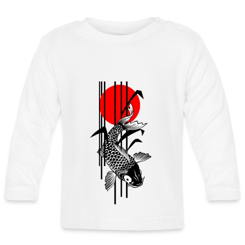 Bamboo Design - Nishikigoi - Koi Fish 1 - Baby Langarmshirt