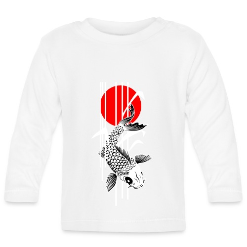 Bamboo Design - Nishikigoi - Koi Fish 2 - Baby Langarmshirt