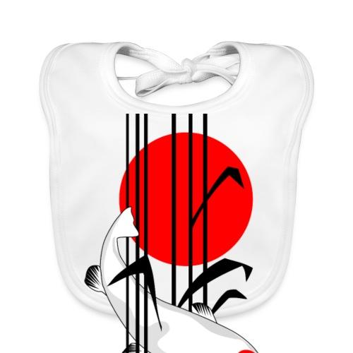 Bamboo Design - Nishikigoi - Koi Fish 5 - Baby Bio-Lätzchen