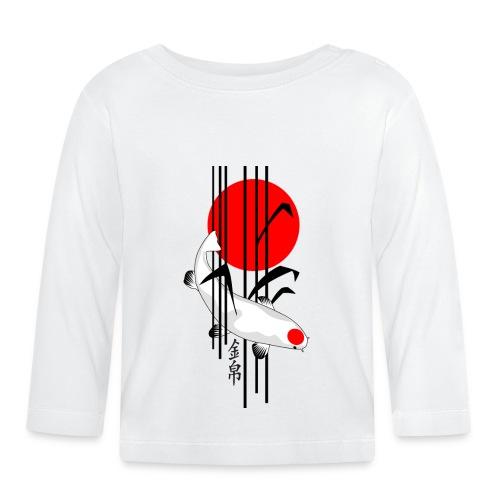 Bamboo Design - Nishikigoi - Koi Fish 5 - Baby Langarmshirt