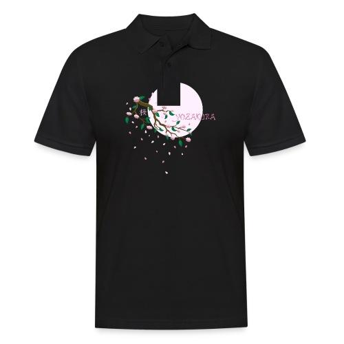 Cherry Blossom Festval Full Moon 1 - Männer Poloshirt