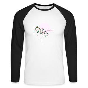 Cherry Blossom Festval Full Moon 1 - Männer Baseballshirt langarm
