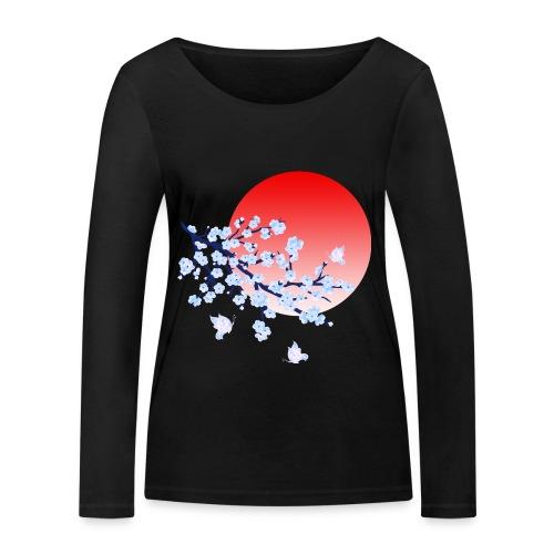 Cherry Blossom Festval Full Moon 4 - Frauen Bio-Langarmshirt von Stanley & Stella