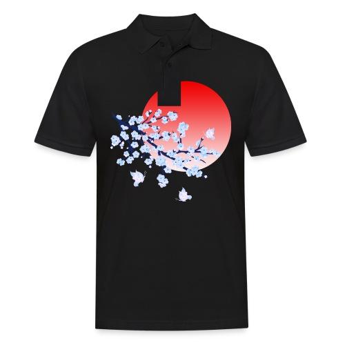 Cherry Blossom Festval Full Moon 4 - Männer Poloshirt