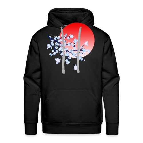 Cherry Blossom Festval Full Moon 4 - Männer Premium Hoodie