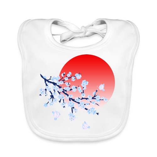 Cherry Blossom Festval Full Moon 4 - Baby Bio-Lätzchen