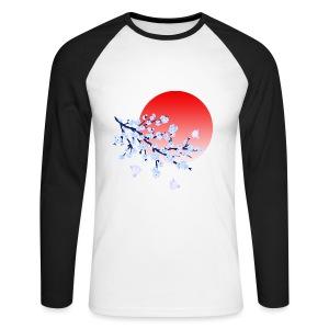 Cherry Blossom Festval Full Moon 4 - Männer Baseballshirt langarm
