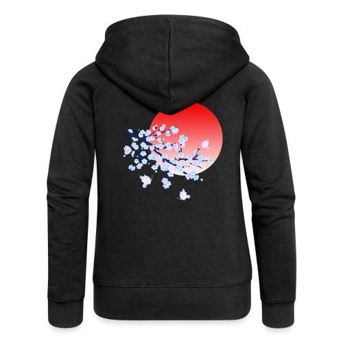 Cherry Blossom Festval Full Moon 4 - Frauen Premium Kapuzenjacke