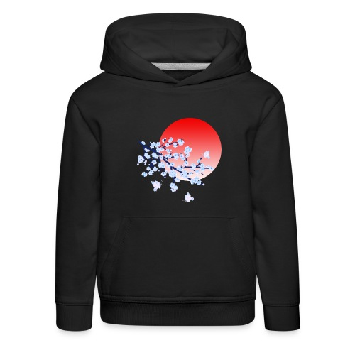 Cherry Blossom Festval Full Moon 4 - Kinder Premium Hoodie