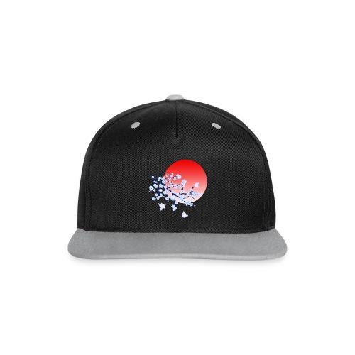 Cherry Blossom Festval Full Moon 4 - Kontrast Snapback Cap