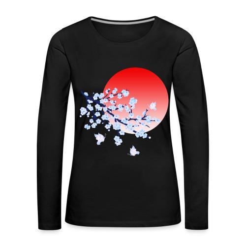 Cherry Blossom Festval Full Moon 4 - Frauen Premium Langarmshirt