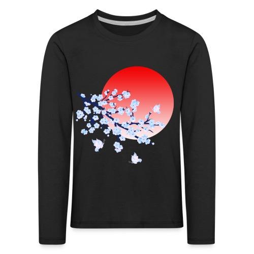 Cherry Blossom Festval Full Moon 4 - Kinder Premium Langarmshirt