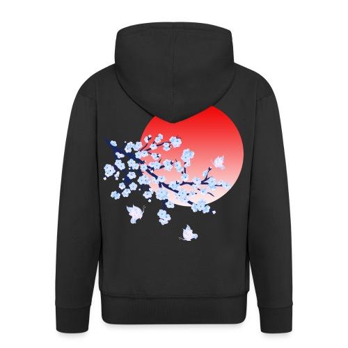 Cherry Blossom Festval Full Moon 4 - Männer Premium Kapuzenjacke