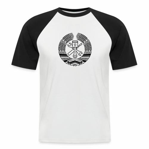 DDR Werkstatt Tuning Wappen (+ Dein Text) - Men's Baseball T-Shirt