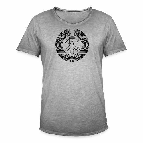DDR Werkstatt Tuning Wappen (+ Dein Text) - Men's Vintage T-Shirt