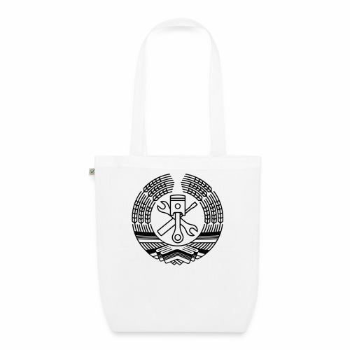 DDR Werkstatt Tuning Wappen (+ Dein Text) - EarthPositive Tote Bag