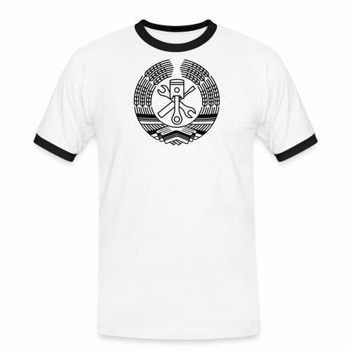 DDR Werkstatt Tuning Wappen (+ Dein Text) - Men's Ringer Shirt